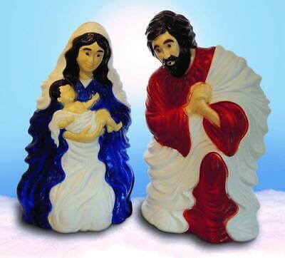 "31"" Outdoor Lighted Nativity Set Joseph Mary Jesus NEW"