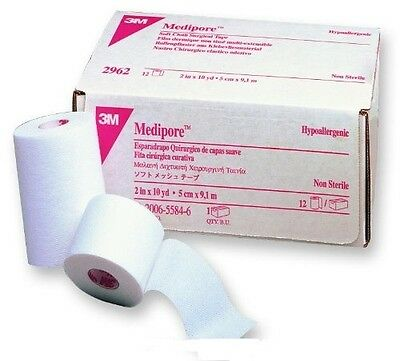 Soft Cloth Medical Tape - Medipore Soft Cloth Medical Tape, 2 Inch X 10 Yards, by 3m, # 2962 - One Roll