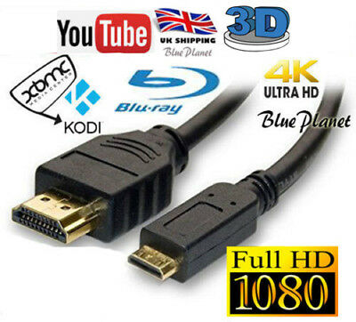 JVC GC-FM1 / GC-FM2 CAMERA / MINI HDMI CABLE LEAD FOR CONNECT TO (Connecting 2 Hdmi Cables To 1 Tv)