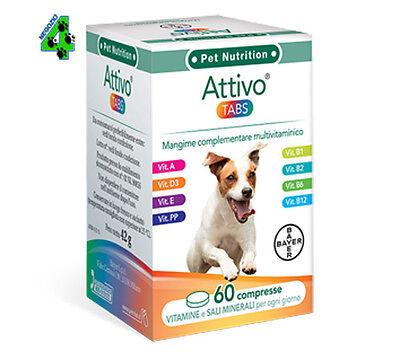 Bayer Attivo Tabs 60 Compresse Integratore di Vitamine per Cani
