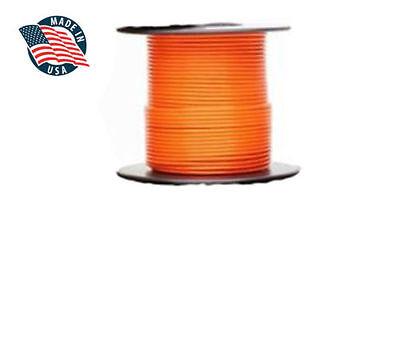 100ft Milspec High Temperature Wire Cable 18 Gauge Orange Tefzel M2275916-18-3
