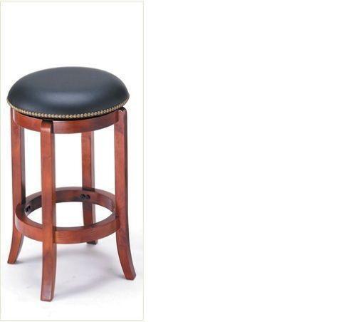 Wood Leather Swivel Bar Stools Ebay