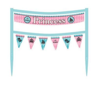 FAIRYTALE PRINCESS CAKE BANNER Birthday Party Supplies Decorations Banner - Princess Cake Decorating Supplies