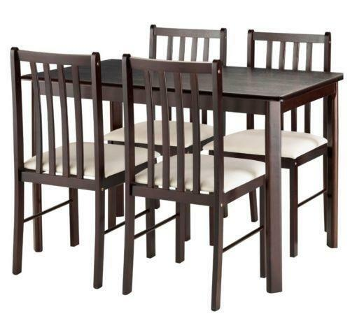 Square dining table and 4 chairs ebay for Square dining table for 4