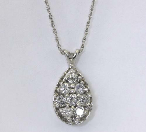 Diamond Teardrop Pendant Ebay