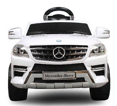 Kinderauto Mercedes-Benz ML350 AMG SUV Lizenz Elektroauto Kinderfahrzeug! Weiß