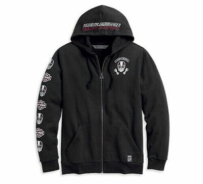 Harley-Davidson® Men's Skull & Logo Hoodie Black 96162-20VM