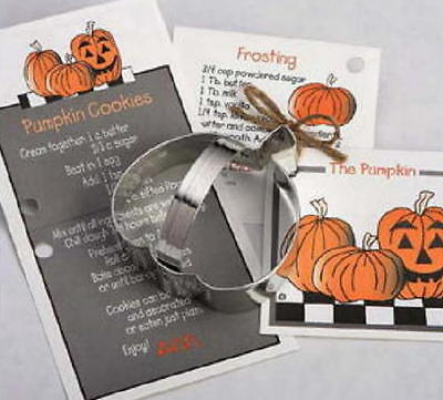 Ann Clark PUMPKIN & GHOST  Tin Plated Steel Cookie Cutter DUO w/Recipes  USA  - Halloween Cookie Recipes