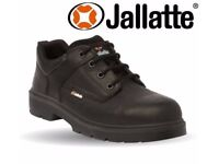 New in Box Mens Black Leather Composite Non Metal Safety Shoes RRP £50 Leicester