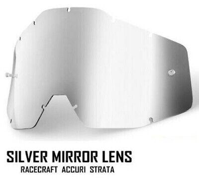 Silber Spiegel Gläser für 100% Motocross Brille Racecraft Accuri Strata Abreißen