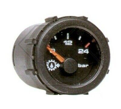 Manómetro Eléctrico Presión Bomba de Aceite Motor 12V Barra 0-24 Newgardenstore