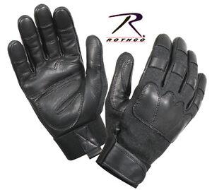 New-KEVLAR-Tactical-GLOVES-Black-Goatskin-Leather-Public-Safety-Cut-Resistant