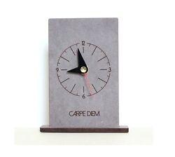 Carpe Diem Wooden Table Desk Clock Modern Art Home Decor Interior  Gift - Crete3