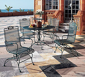 Awesome Wrought Iron Dining Patio set