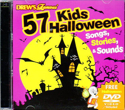 57 KIDS HALLOWEEN SONGS STORIES & SOUNDS CD + BONUS VIRTUAL GHOUL LOG/CASPER - Halloween Kids Song