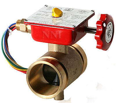 2-12 Bronze Butterfly Valve Grooved With Tamper Switch Ulfm Fire Protection