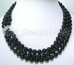 MYSTERIOUS-3-STRANDS-BLACK-ONYX-BEADS-NECKLACE