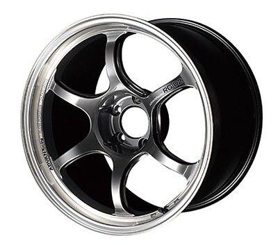 YOKOHAMA ADVAN Racing RG-D2 wheels HYPER BLACK 7.5J-18 +47 rims Made in JAPAN