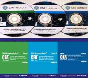 CFA 2016 Levels  1/2/3  Schweser Books, Tests, Videos, Flashcard