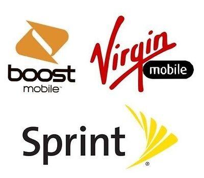 BOOST SPRINT VIRGIN FACTORY UNLOCK SERVICE IPHONE SE 6S 6S+ 6+ 6 5S 5C CODE