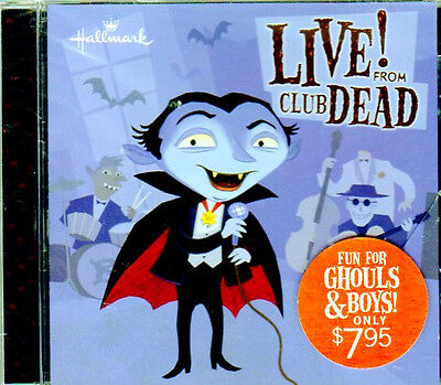 Hallmark LIVE FROM CLUB DEAD: SPOOKY KIDS HALLOWEEN SONGS & SOUND EFFECTS! RARE!