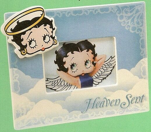 2 Betty Boop Picture Frames One Devil and One Angel 4X6