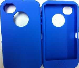 Blue slipover Silicone Skin replace iPhone 4S Otter Box Defender