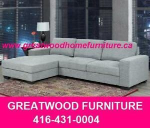 ** BRAND NEW GREY FABRIC SECTIONAL FOR $699 ONLY **$699.00