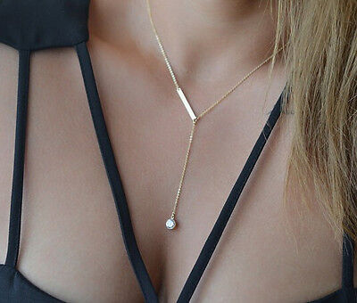 Women Fashion Crystal Pendant Choker Chunky Statement Necklace Jewelry Charm hot