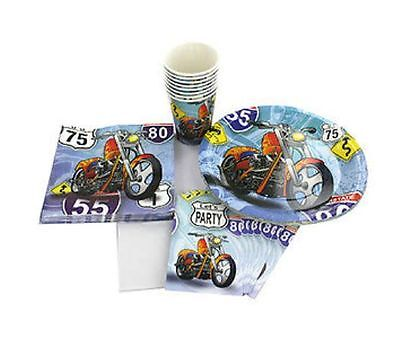 Chopper Bike Motorcycle Birthday Party Supplies Napkins Cups Invitations - Motorcycle Birthday Party Supplies