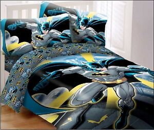 Batman in the city super soft luxury 4 piece full size comforter set