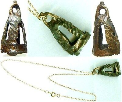 Rare Ornate Decorated Ancient China Warring States Era Bronze Bell Pendant 300BC