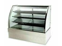 Cake counter Display Fridge 1500x740x1300mm 3 shelves Mirror front LED Commercial