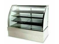 Cake counter Display Fridge 1800x740x1300mm 3 shelves Mirror front LED Commercial