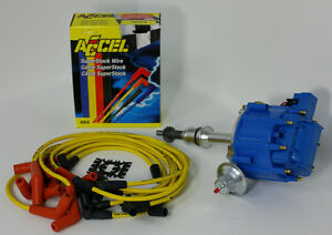 FORD-289-302-HEI-DISTRIBUTOR-ACCEL-WIRES-4069-6502-BLUE-KIT