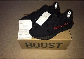 Brand New Adidas Yeezy Boost Pirate Black Red v2 Box with Receipt
