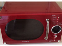 Daewoo Red Microwave Oven 800 W Model No KOR-6N9RR very good condition, hardly used.