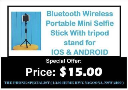 Portable Bluetooth Wireless Selfie stick with tripod stand