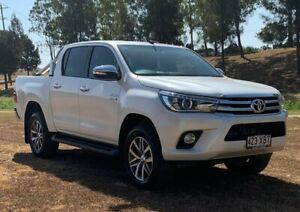 2016 Toyota Hilux GUN126R SR5 (4x4) Crystal Pearl 6 Speed Automatic Dual Cab Utility Oakey Toowoomba Surrounds Preview