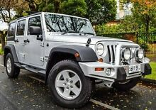 2012 Jeep Wrangler JK MY2012 Unlimited Sport Silver 5 Speed Automatic Softtop Medindie Walkerville Area Preview