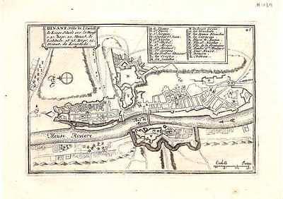 Antique map, Dinant. Ville de l'Evesch de Liege.