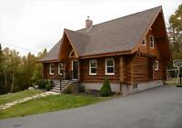 Beautiful Log Home + 14.5  acres in Highland Park Subdivision!