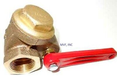 1-14 200 Wog Npt Quick Opening Gate Valve Bronze Lever Operated New Wh613
