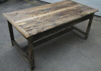 Century-Old Barnwood Harvest Table