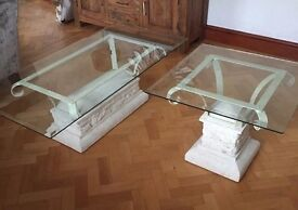 Glass / Stone Tables x4