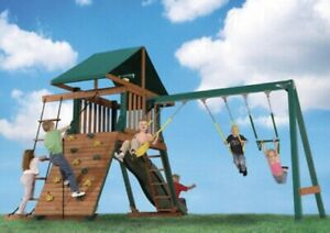 Kids play set swing set