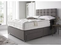 Same day Timed Delivery 7 Days a week Premium Range Divan Bed Base and Headboard Factory Direct
