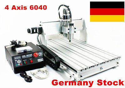 【DE Stock】 4 Axis 6040Z-S80 1500W CNC Router Engraving Milling Machine Kit 220V