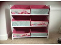 Kids Toy Storage Organiser Drawer Unit Bedroom Cabinet Canvas Nursery Chest