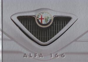 ALFA ROMEO 166 1998 HARDCOVER BROCHURE PROSPEKT CATALOGUE FOLDER - <span itemprop='availableAtOrFrom'>Opole, Polska</span> - ALFA ROMEO 166 1998 HARDCOVER BROCHURE PROSPEKT CATALOGUE FOLDER - Opole, Polska